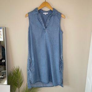 Beachlunchlounge Blue Chambray Tunic Dress Size S